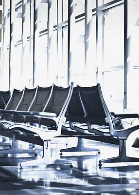 Airport Departure Seating Art Print