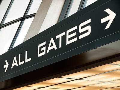 Airport Gates Sign Art Print
