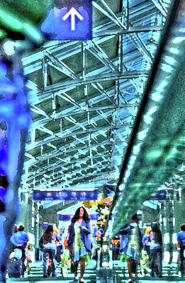 Jerry Sodorff Royalty-Free and Rights-Managed Images - Airport Layover PK by Jerry Sodorff