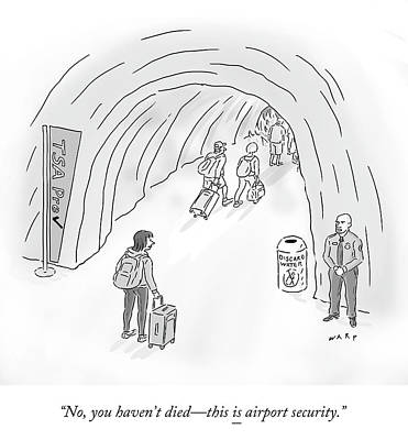 Drawing - Airport Security by Kim Warp