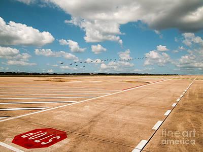 Passenger Plane Painting - Airport by Svetlin Yosifov