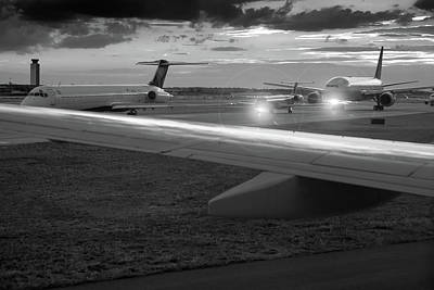 Airport Tarmac Print by Steve Gadomski