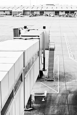 Airport Walkway Print by Tom Gowanlock