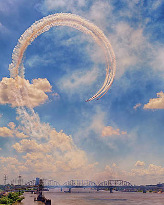 Photograph - Airshow At The Lou by Susan Rissi Tregoning