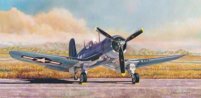 Painting - Airshow Corsair by Douglas Castleman