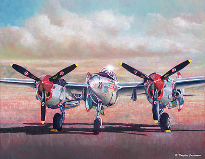 Painting - Airshow Lightning by Douglas Castleman