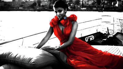 Khan Mixed Media - Aishwarya Rai by Brian Reaves