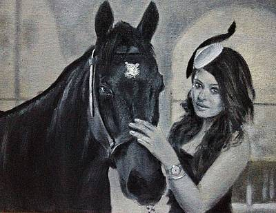 Longines Painting - Aishwarya Rai Portrait by Praisey Peter