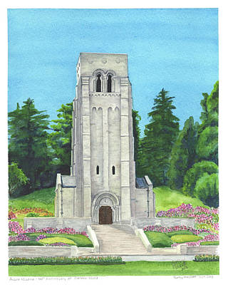 Painting - Aisne-marne American Cemetery by Betsy Hackett