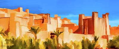 Painting - Ait Benhaddou Morocco by Wally Hampton