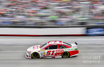 Aj Allmendinger At Bristol Motor Speedway During Nascar Sprint C Art Print