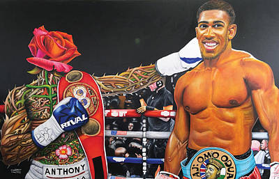 Painting - Aj Omo Oduduwa The World Champion by O Yemi Tubi