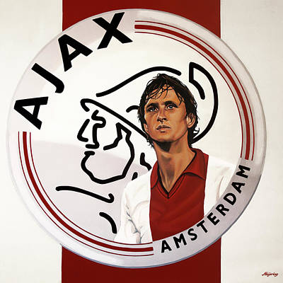 Legend Painting - Ajax Amsterdam Painting by Paul Meijering
