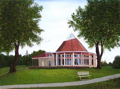 Painting - Ajax Rotary Pavilion by Sharon Steinhaus