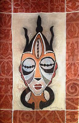 Painting - Aje Mask by Bankole Abe