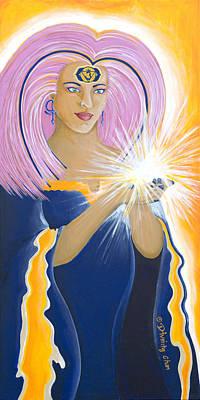 Painting - Ajna Third Chakra Goddess by Divinity MonSun Chan