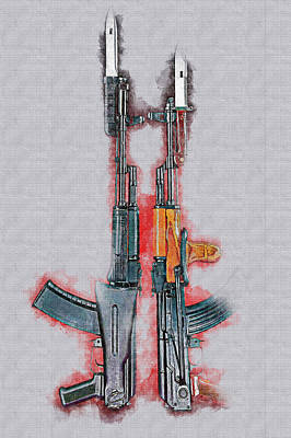 Digital Art - Ak 47 by Don Kuing