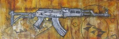 Ak-47 Painting - AK by Dennis Matson
