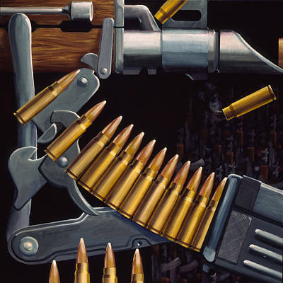 Gun Barrel Painting - Ak Parts by Sean Gautreaux