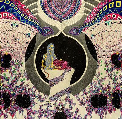 Gaia Drawing - Akal by Bobby Hermesch