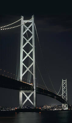 Kobe Photograph - Akashi Kaikyo Suspension Bridge - Japan by Daniel Hagerman