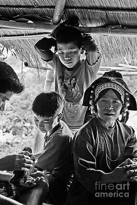Photograph - Akha Family - Burma by Craig Lovell
