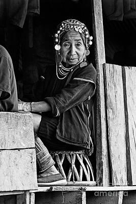 Photograph - Akha Grandmother - Burma by Craig Lovell