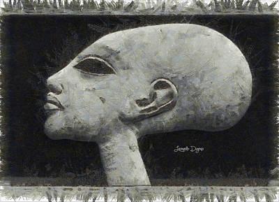 Create Digital Art - Akhenaten Was Among Us - Da by Leonardo Digenio