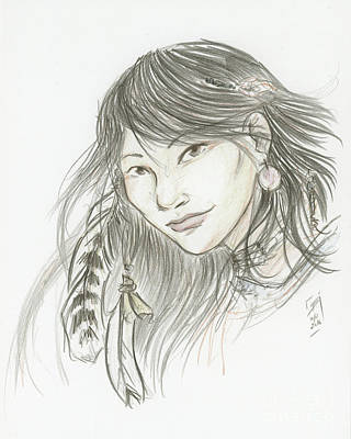 Drawing - Akinik by Brandy Woods