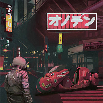 Motorcycle Wall Art - Painting - Akira by Scott Listfield