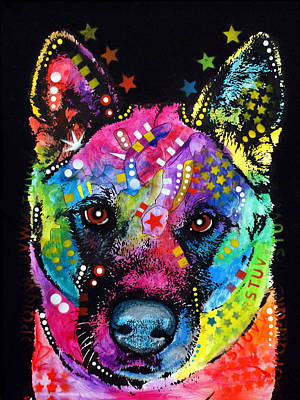 Dog Painting - Akita 1 by Dean Russo