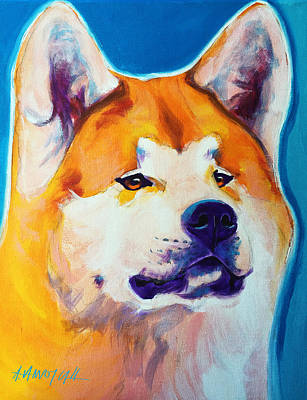 Painting - Akita - Apricot by Alicia VanNoy Call