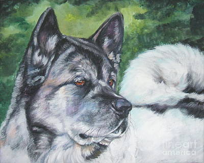 Painting - Akita by Lee Ann Shepard