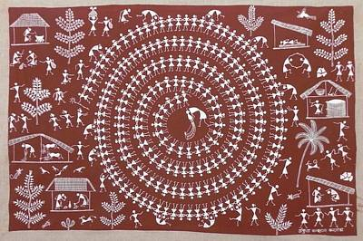 Indian Tribal Art Painting - Akk 05 by Ankush Kakuram Karmoda