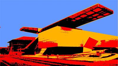 Digital Art - Akron Art Museum by Su Nimon