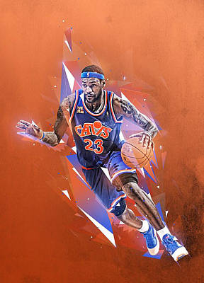 Lebron James Drawing - Akron Boy by Jeric Barnutz