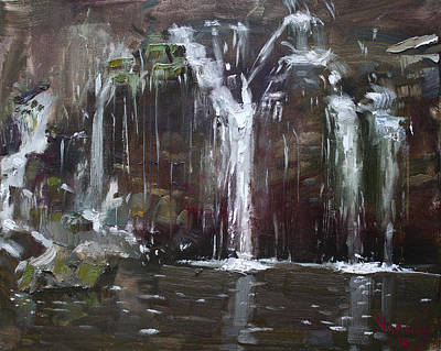 Village Painting - Akron Falls by Ylli Haruni
