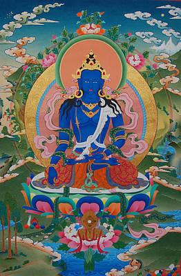 Vajrayana Painting - Akshobya The Immovable Buddha by Binod Art School