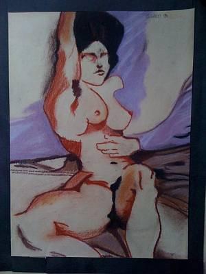 Drawing - Akt by Gyorgy Szilagyi