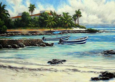 Akumal Bay Mexico Art Print by Vickie Fears