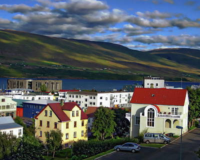 Photograph - Akureyri City View by Anthony Dezenzio