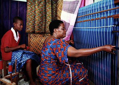 Photograph - Akwete Weaving by Muyiwa OSIFUYE