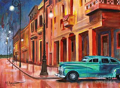 Painting - Al Caer La Noche by Maria Arango