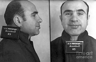 Al Capone Photograph - Al Capone Alcatraz Mugshot by Jon Neidert