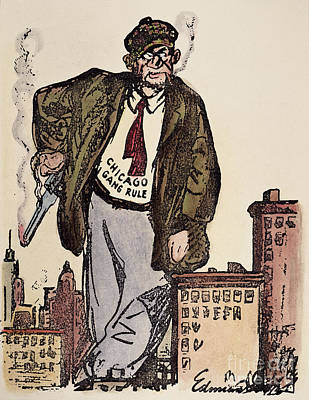 Photograph - Al Capone Cartoon, 1930 by Granger