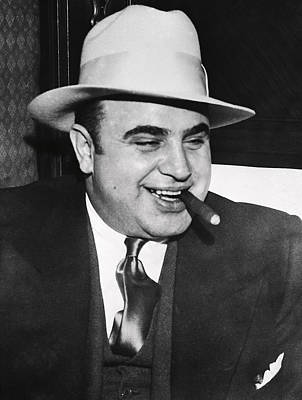 Kingpins Photograph - Al Capone Chicago Prohibition Crime Boss by Daniel Hagerman