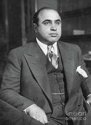 Photograph - Al Capone, Circa 1930  by American School