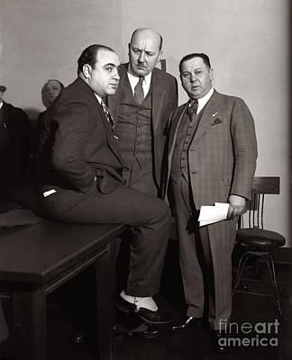Al Capone Photograph - Al Capone In Court by Jon Neidert