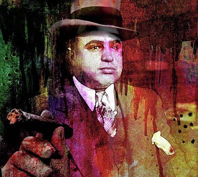 Al Capone Art Print by Mal Bray