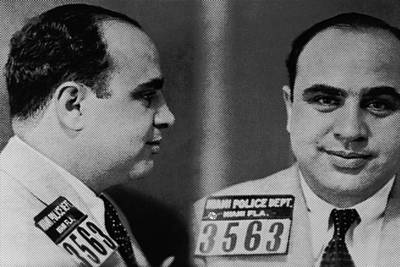 Police Art Painting - Al Capone Mug Shot 1931 Horizontal by Tony Rubino